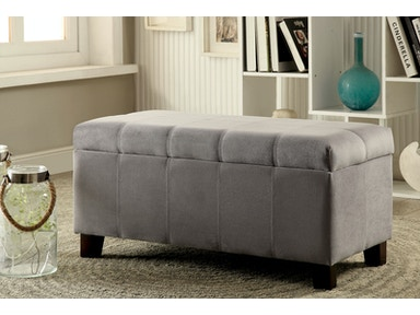 Furniture of America Ottoman, Gray CM-BN6036GY