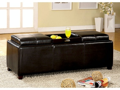 Furniture of America Tray Top Storage Ottoman CM-BN6043