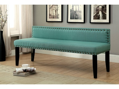 Furniture of America Small Bench, Blue CM-BN6051BL-S