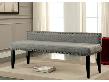 Furniture of America Large Bench, Gray CM-BN6051GY-L