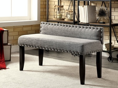 Furniture of America Small Bench, Gray CM-BN6051GY-S