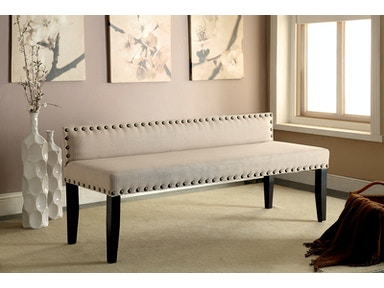 Furniture of America Large Bench, Ivory CM-BN6051IV-L