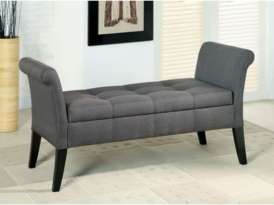 Furniture of America Storage Bench, Gray CM-BN6190GY
