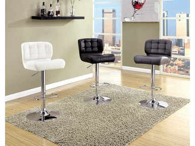 Furniture of America Bar Stool, Black CM-BR6152BK