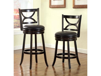 Furniture of America 24 Swivel Bar Stool, Antique Black CM-BR6240-24