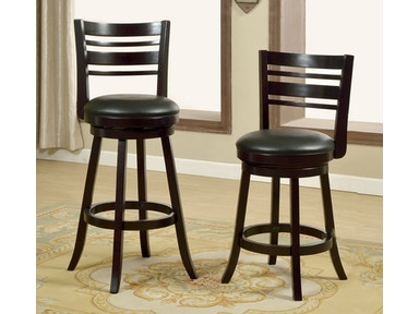 Furniture of America 24 Swivel Bar Stool, Espresso CM-BR6241-24