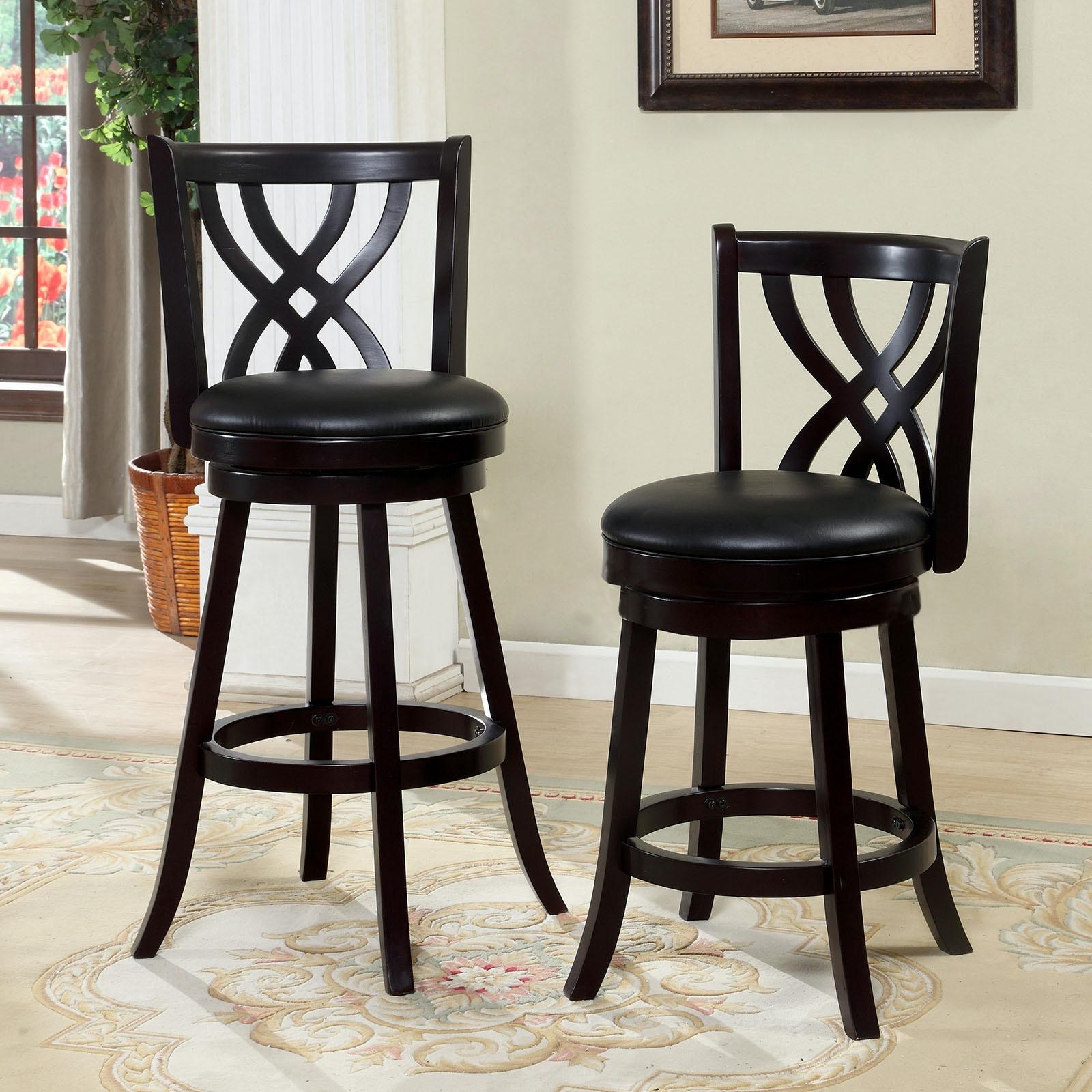 Furniture Of America Dining Room 24 Swivel Bar Stool Espresso Cm