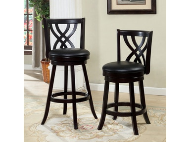 Furniture of America 24 Swivel Bar Stool, Espresso CM-BR6242-24