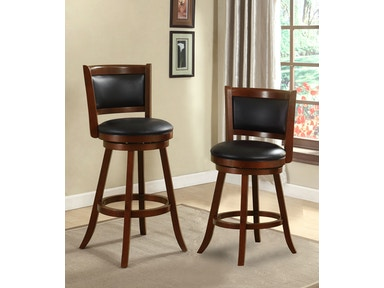 Furniture of America 24 Swivel Bar Stool, Dark Cherry CM-BR6243-24