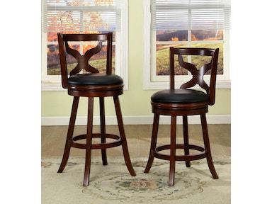 Furniture of America 24 Swivel Bar Stool, Dark Cherry CM-BR6244-24