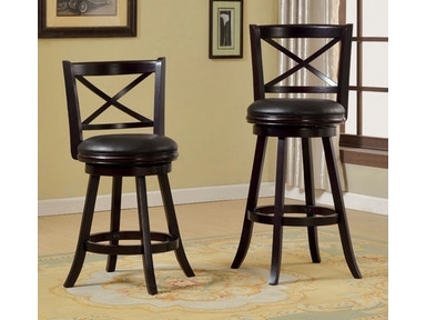 Furniture of America 24 Swivel Bar Stool, Espresso CM-BR6245-24