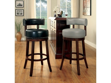 Furniture of America 24 Bar Stool, Black (2/Ctn) CM-BR6251BK-24-2PK