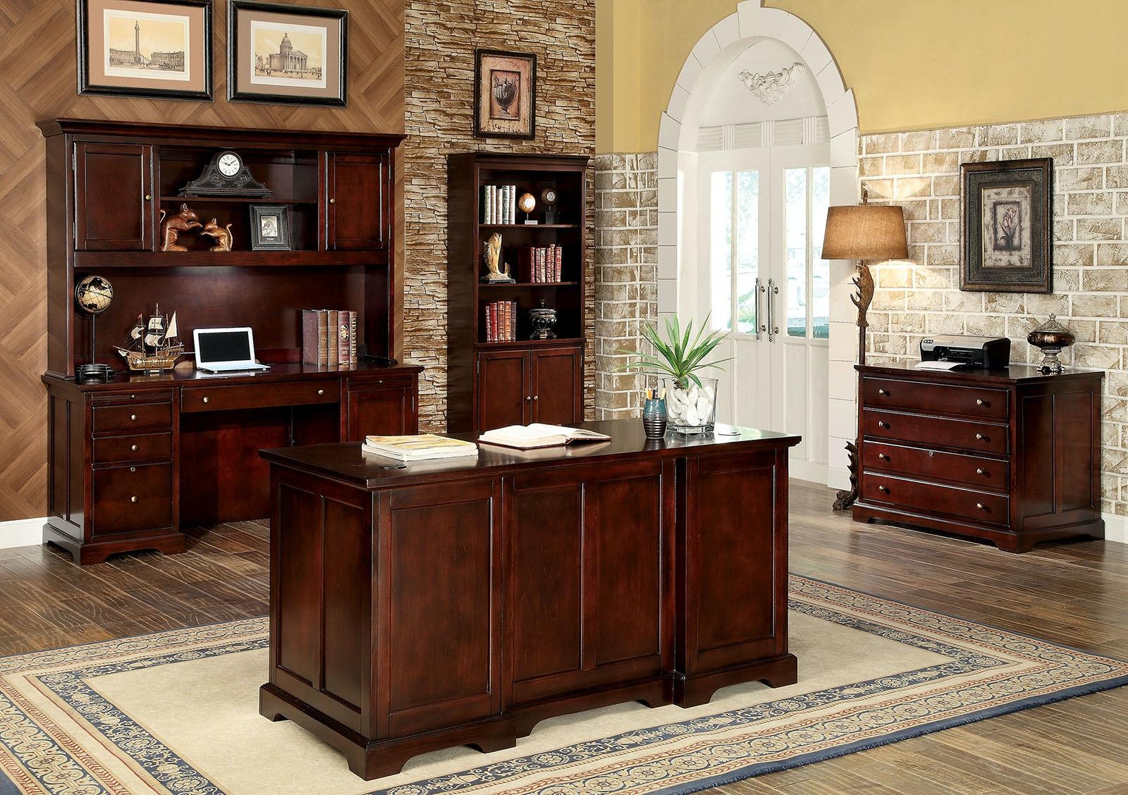 Furniture Of America Office Desk, Cherry CM DK6207D