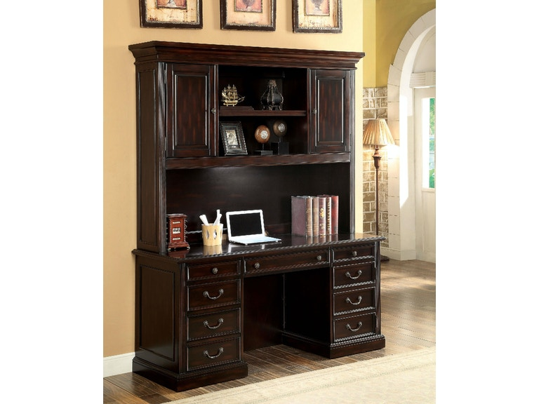 America Home Office Desk Hutch Cherry