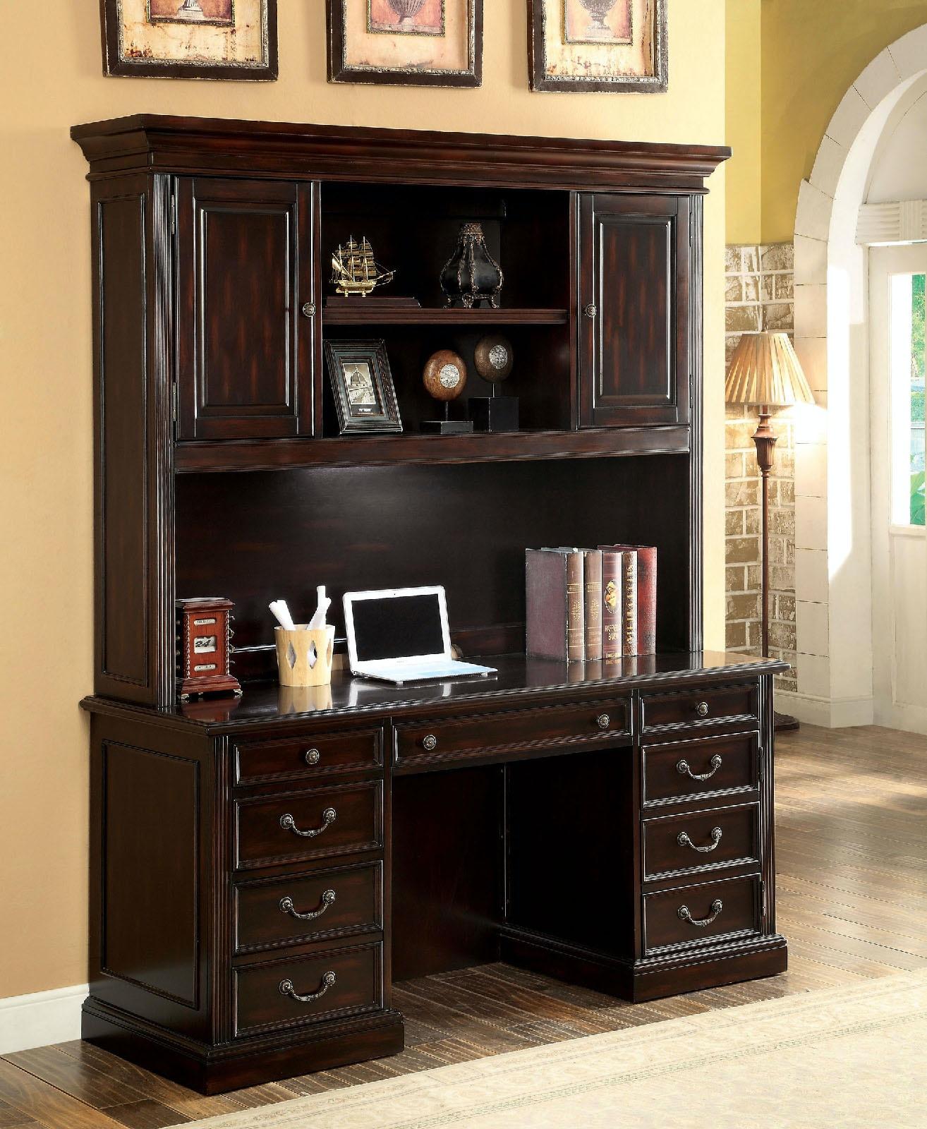 Charmant Furniture Of America Desk Hutch, Cherry CM DK6208H