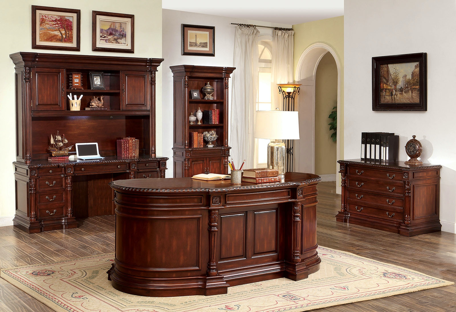 oval office furniture. Fine Oval Furniture Of America Oval Office Desk CMDK6252DO On