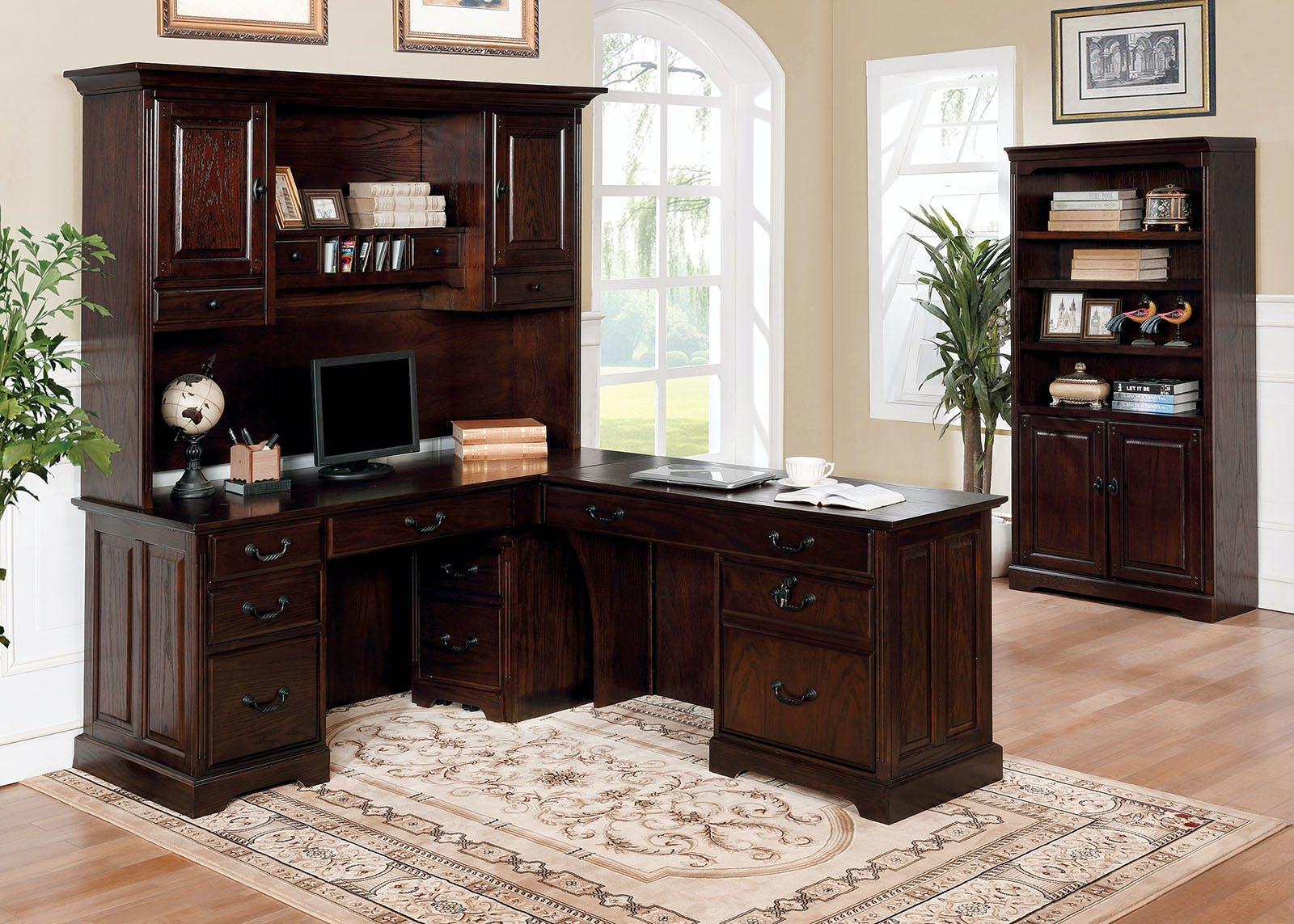 Furniture Of America Home Office Corner Desk Hutch Cm Dk6384crh The Furniture Mall Duluth