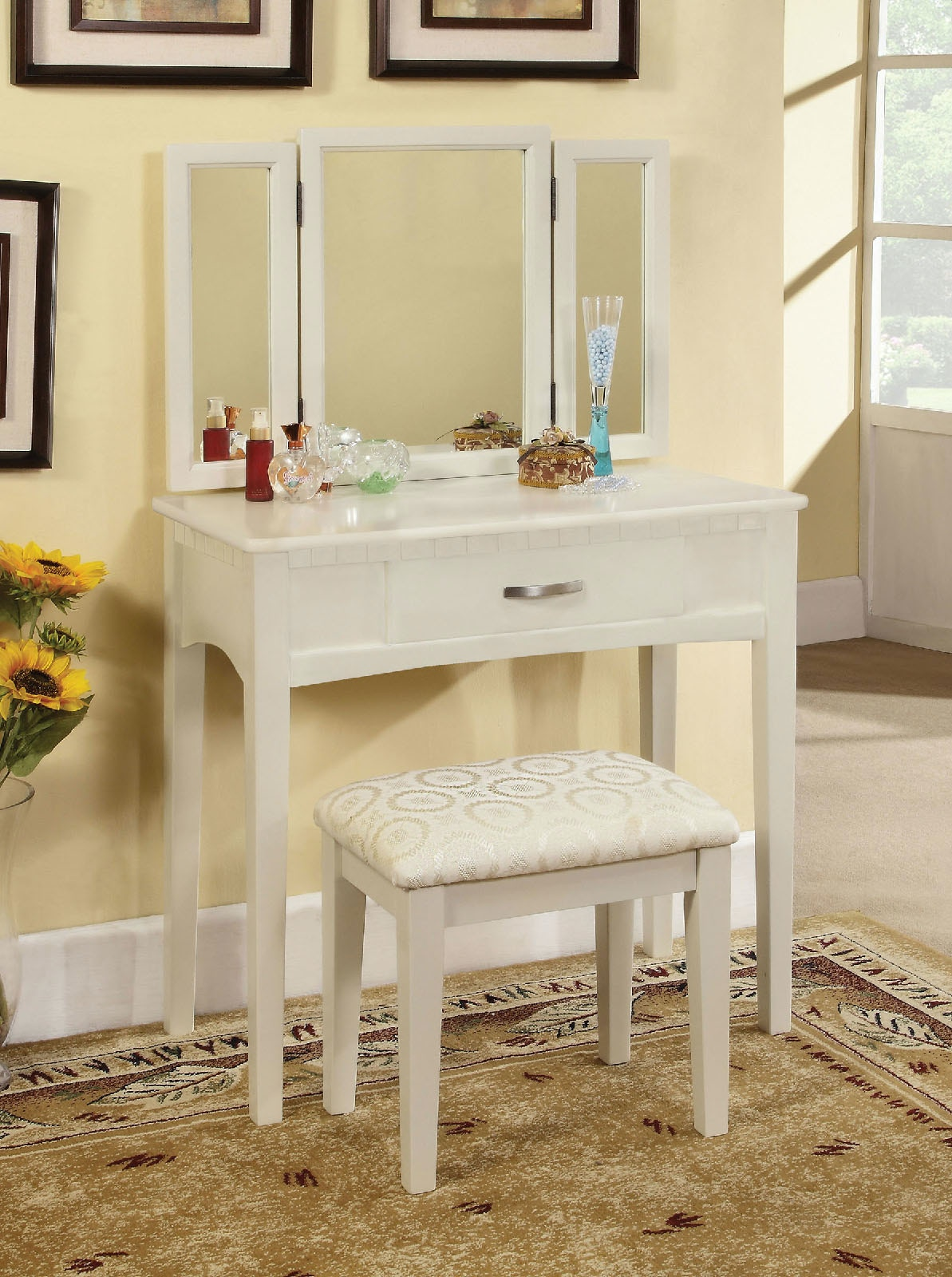 Vanity Table, White