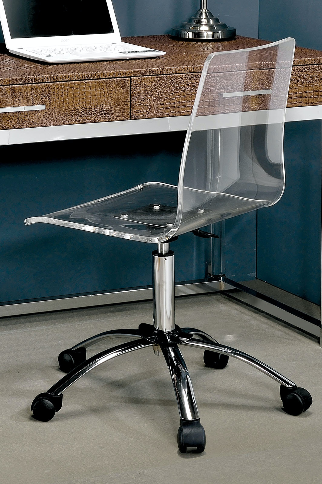 acrylic office chairs cheap furniture of america acrylic office chair cmfc6403a living room