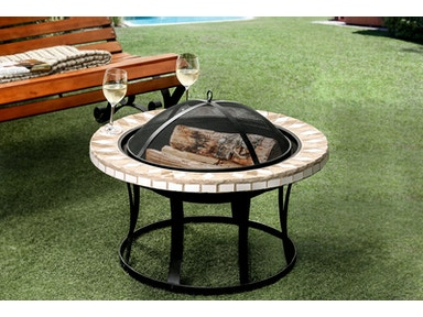 Furniture of America Round Fire Place CM-OF1803