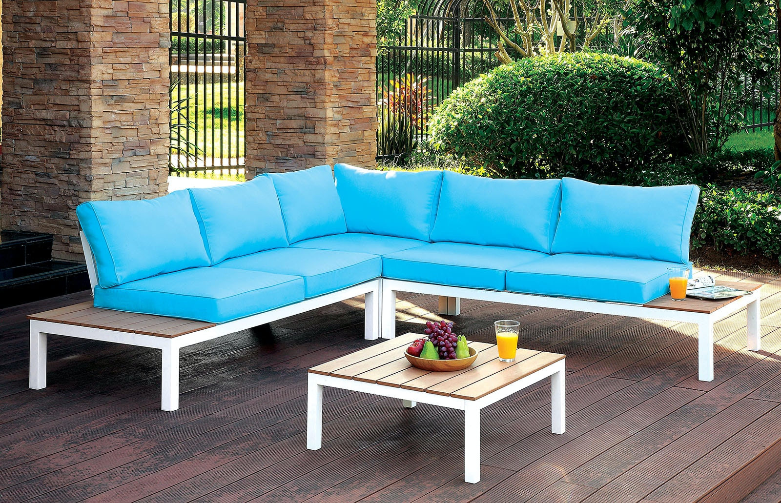 Incroyable Furniture Of America Corner Chair + Ottoman CM OS2580 2