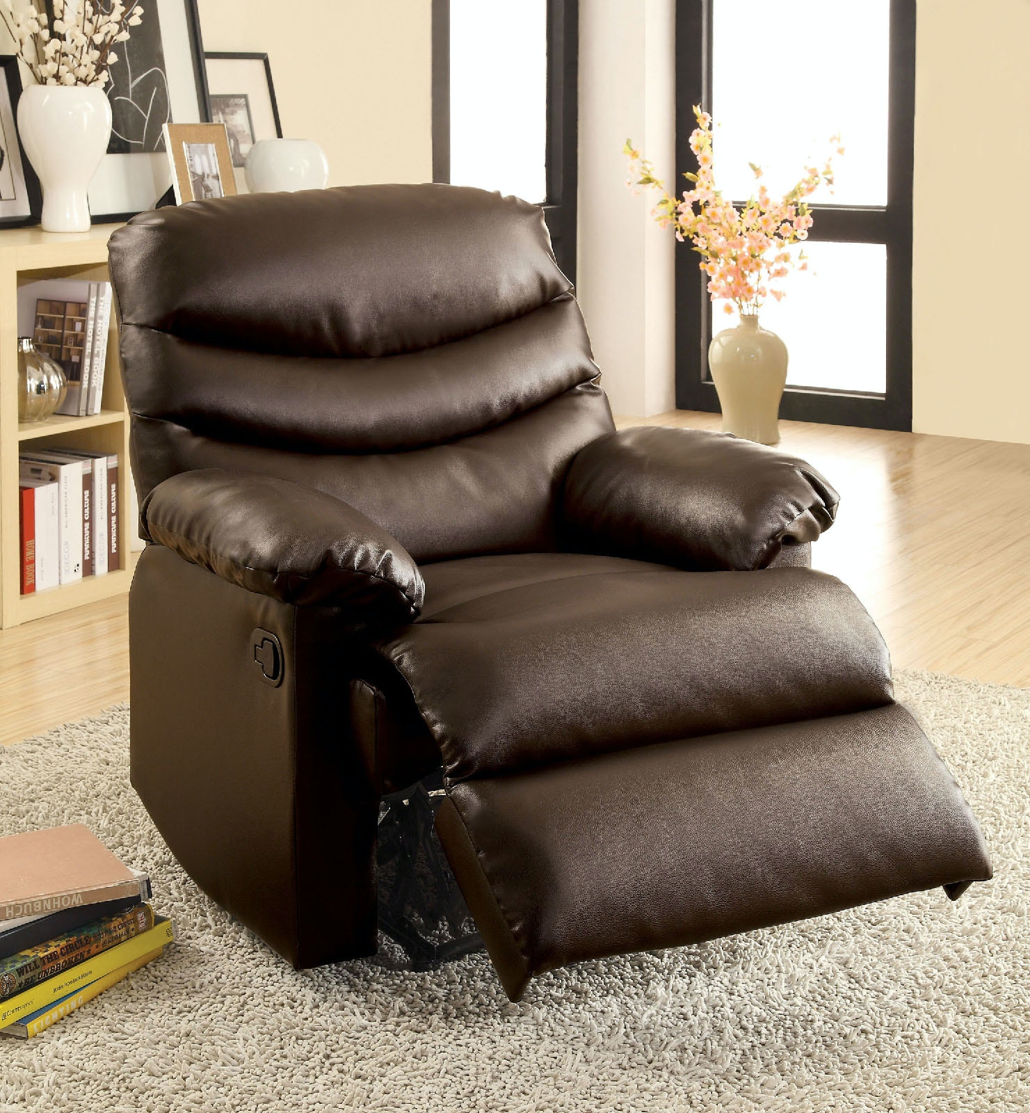 Furniture Of America Living Room Recliner, Brown Microfiber CM RC6927 DK    The Furniture Mall   Duluth, Doraville, Kennesaw And The Chamblee, GA