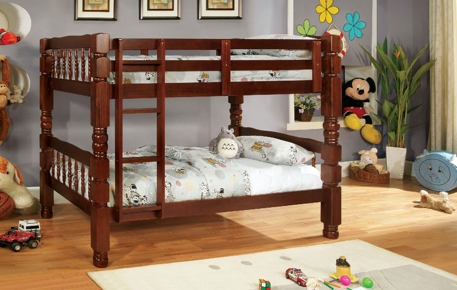 Furniture Of America Bedroom Twin Twin Bunk Bed Cherry Cm2527ch 2