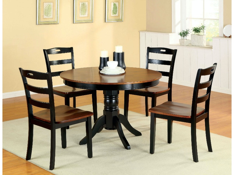 a377e76d30eb65 Furniture of America Dining Room Table + 4 Side Chairs CM3027RT-5PC at The  Furniture Mall