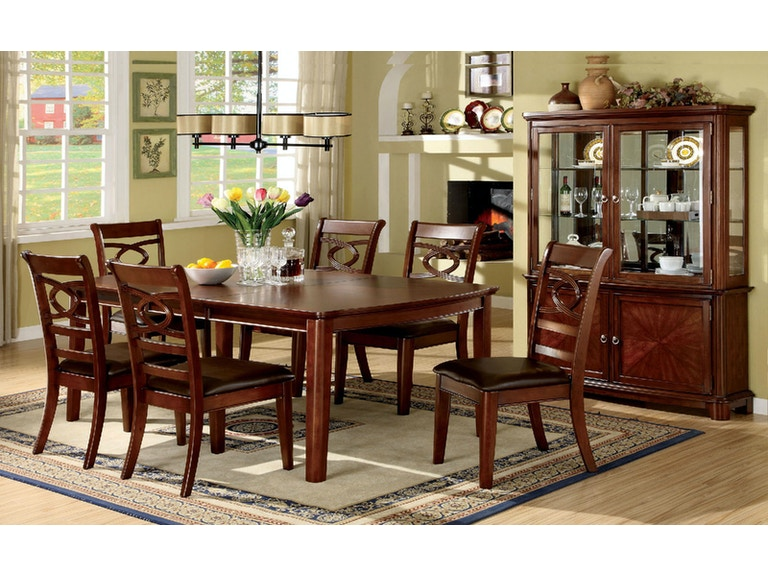 3460bed395390a Furniture of America Dining Room Table + 6 Side Chairs CM3149T-7PC at The  Furniture Mall