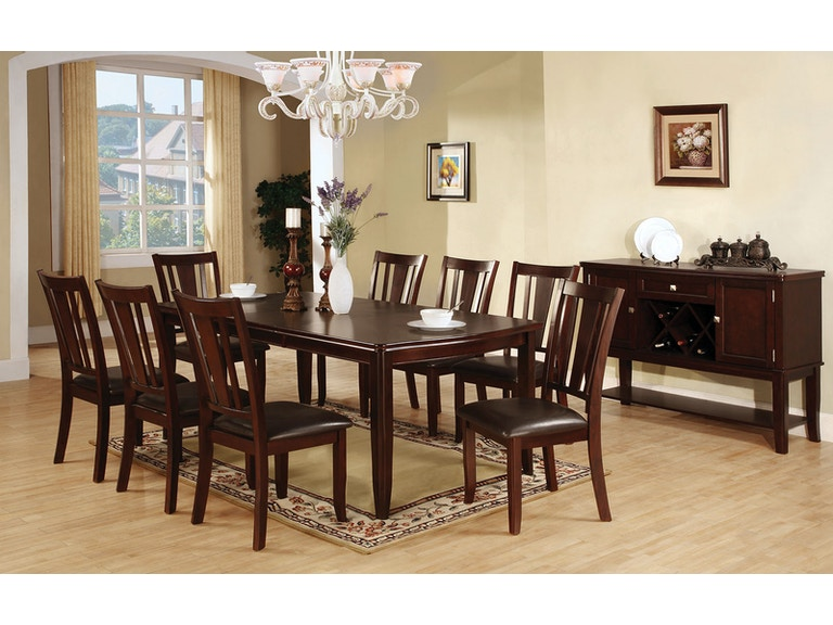 Furniture Of America Dining Room Table Cm3336t At The Mall