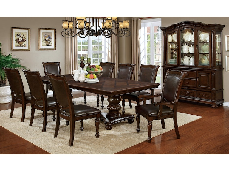 Furniture Of America Dining Room Table Cm3350t At The Mall