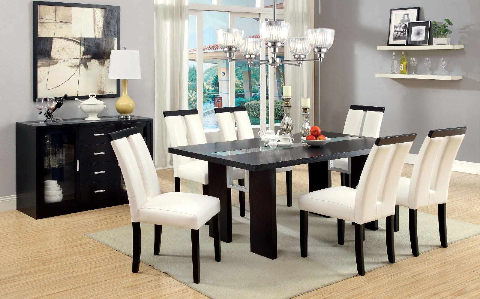 dining table with insert oak furniture of america glassinsert dining table cm3559t room