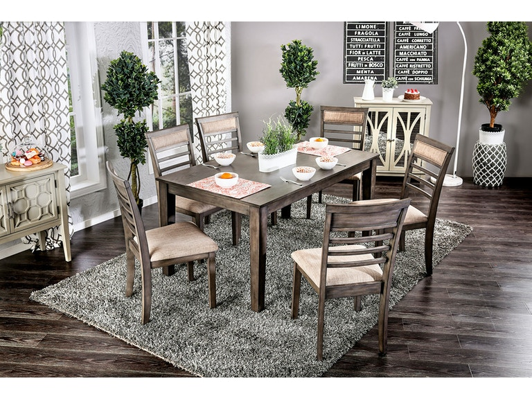 Furniture Of America 7 Pc Dining Table Set Cm3607t 7pk