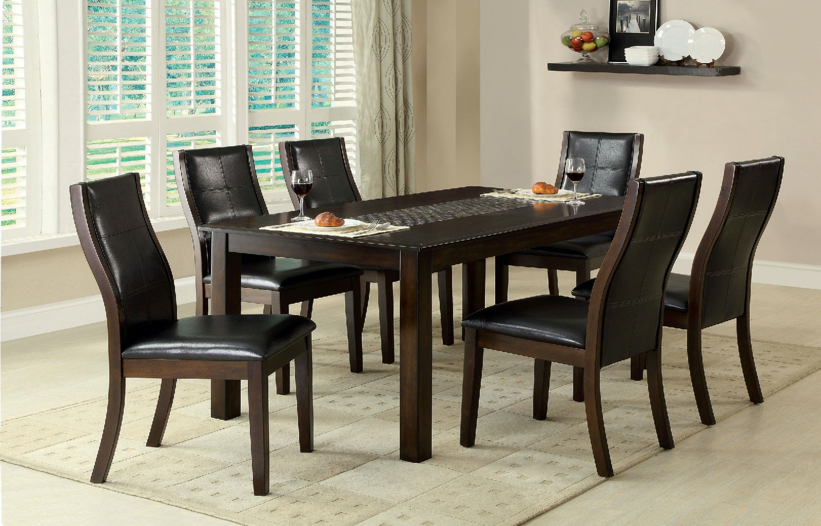 dining table with insert counter height furniture of america mosaicinsert dining table cm3669t accessories