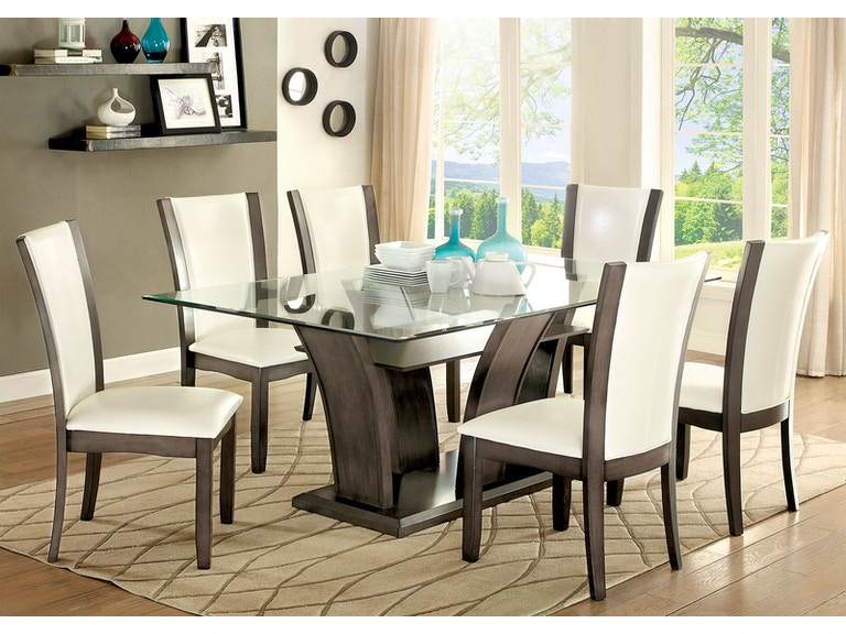ffaec2182e2732 Furniture of America Dining Room Side Chair, Gray (2/Ctn) CM3710GY-SC-2PK  at The Furniture Mall