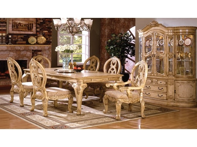Formal Dining Table W French Style Legs