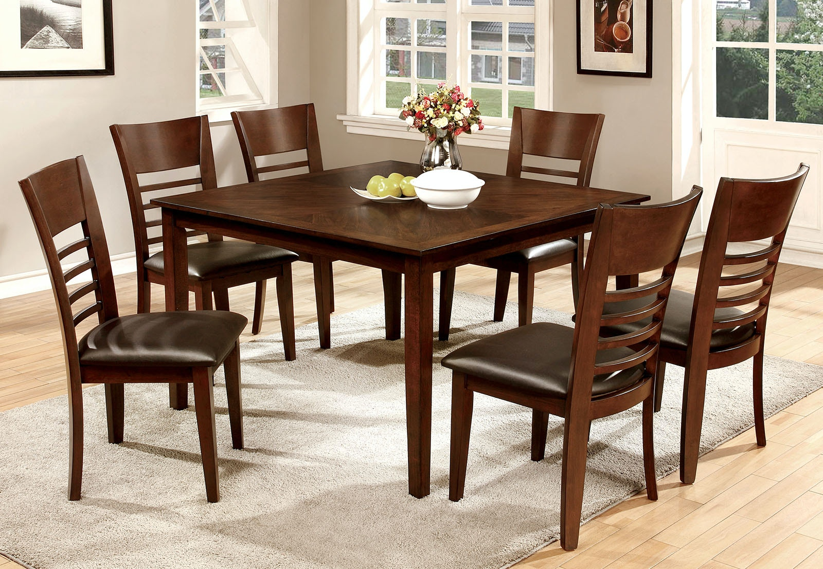 Furniture Of America Dining Room 7 Pc. Dining Table Set CM3916T 7PC At The  Furniture Mall