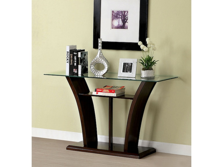 Furniture Of America Living Room Glass Top Sofa Table Cm4104s T