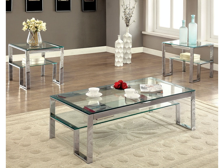 Furniture Of America Living Room Coffee Table 10mm Clear Tempered