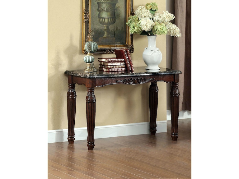 Faux Marble Top Sofa Table