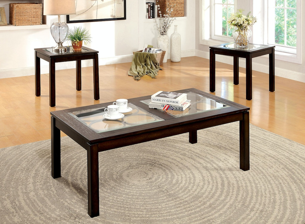 3 Pc Table Set Coffee 2 End