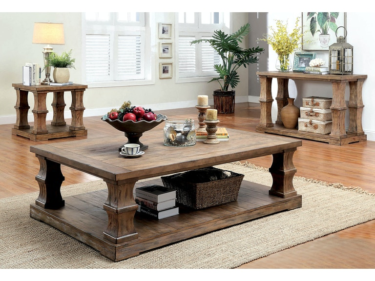 Furniture Of America Living Room Coffee Table W Cushion Top Cm4457f