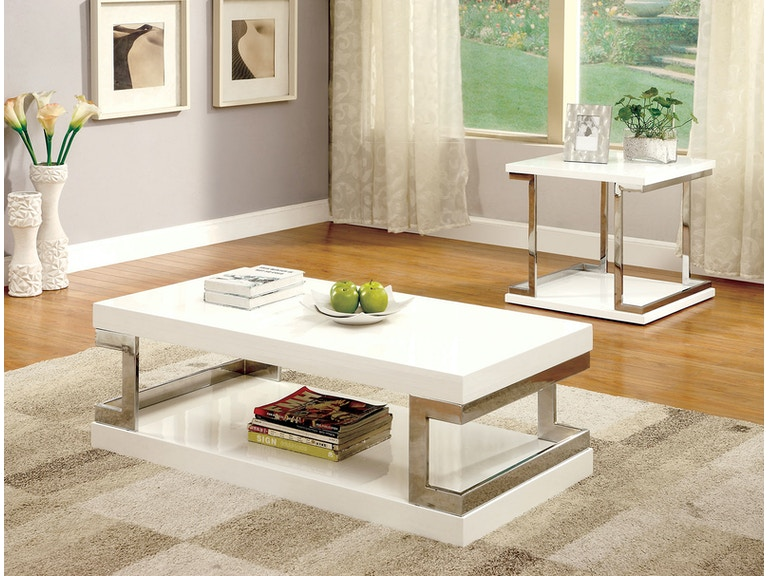 Furniture Of America Living Room Coffee Table White Cm4486c The