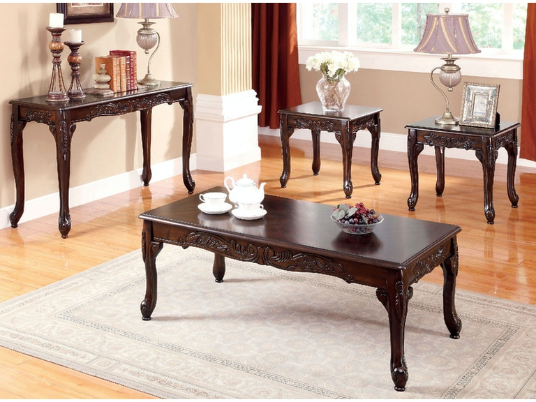 Furniture Of America 3 Pc Table Set Coffee 2 End Cm4914