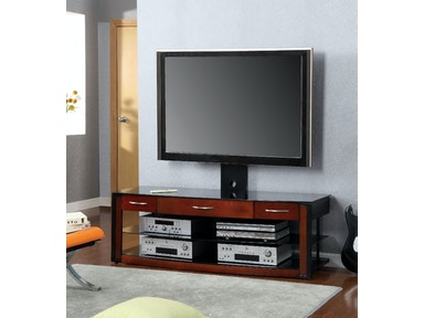 Furniture of America 60 Glass Top Tv Console CM5003-TV