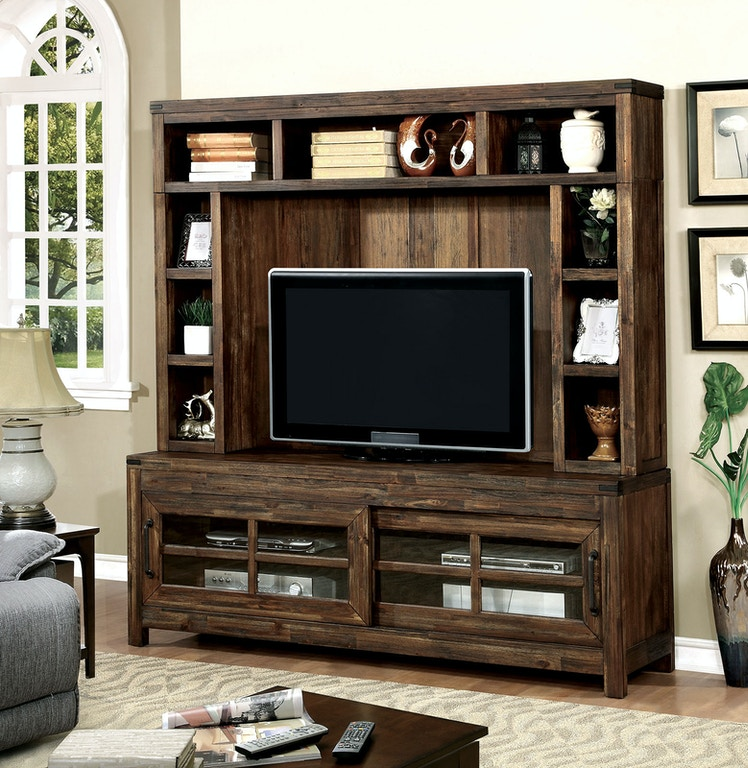 Furniture Of America Home Entertainment 72 Tv Console Hutch Cm5233 Set At The Mall