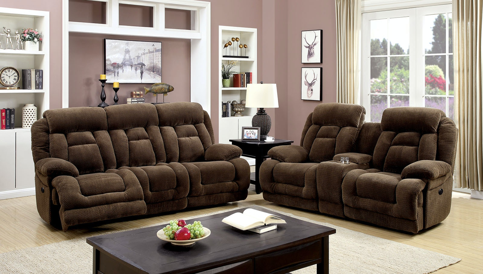 High Quality Furniture Of America Living Room Sofa + Love Seat + Chair CM6010 PM 3PC At  The Furniture Mall