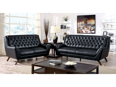 Furniture of America Sofa, Black CM6035BK-SF