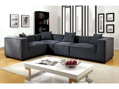 Furniture of America Sofa CM6037GY-SET-1L1R