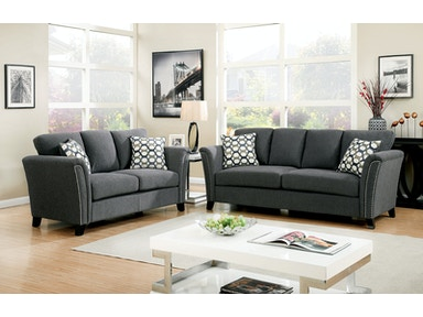 Furniture of America Sofa, Gray CM6095GY-SF